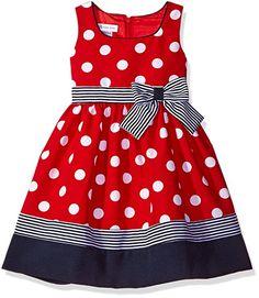 Bonnie Jean Little Girls' Toddler Nautical Dot and Stripe. Toddler Girl Style, Toddler Fashion, Toddler Outfits, Kids Outfits, Kids Fashion, Baby Girl Dress Patterns, Baby Dress, Mom Dress, Cute Little Girl Dresses