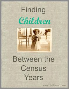 """genealogy How does one research children who fell between the census years? If a child's entire life span fell between two census years, the researcher must think """"outside of the box"""" to fi Free Genealogy Sites, Genealogy Forms, Genealogy Search, Family Genealogy, Genealogy Humor, Genealogy Chart, Free Genealogy Records, My Family History, All Family"""