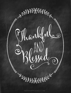 thankful and blessed printable