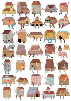 George Mitchell #illustration #houses