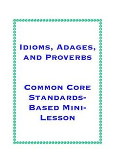 idioms, adages and proverbs Reading Skills, Writing Skills, Teaching Reading, Learning, Classroom Job Chart, Classroom Jobs, Adages And Proverbs, Student Teaching, Teaching Ideas