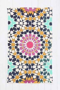 Big Garden Printed Rug - Urban Outfitters