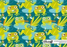 Baumwolljersey Lillestoff Jack & Frogfriends Frosch Biene BIO Jersey GOTS COUPON