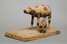 Model of a Cow and Her Calf | Middle Kingdom | The Met
