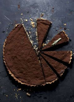 Rich, sophisticated and a dinner party dessert par excellence, this tart recipe from Yotam Ottolenghi's SWEET combines flavours of chocolate, hazelnut and orange. Yotam Ottolenghi, Ottolenghi Recipes, Chocolate Cream Cheese, Chocolate Filling, Melting Chocolate, Chocolate Tarts, Chocolate Hazelnut, Tart Recipes, Dessert Recipes