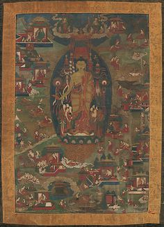 Inch Print - High quality prints (other products available) - Buddha Shakyamuni and Scenes of His Previous Lives (Jataka Tales), - Image supplied by Heritage Images - Photograph printed in the USA Buddhist Symbols, Buddhist Art, Tibetan Art, Tibetan Buddhism, Buddha Life, Thangka Painting, Oriental, Previous Life, Canvas Prints