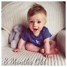 TESSA RAYANNE My Baby Boy Is 8 Months Old ❤ liked on Polyvore featuring kids