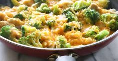 One Pan Cheesy Chicken Broccoli Rice