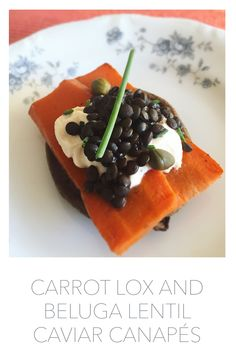 Beluga Lentil Crostini Recipe — Dishmaps