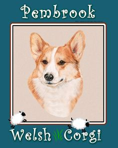 12x15 Pembroke Welsh Corgi Glass cutting board by TheCopperMare