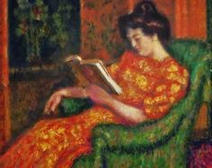 ✉ Biblio Beauties ✉ paintings of women reading letters & books - Georges Lemmen