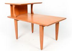 mid century modern heywood wakefield step end table