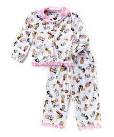 Look at this #zulilyfind! Peanuts Button-Up Pajama Set - Toddler #zulilyfinds