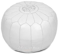 Moroccan Buzz offers a premium version of the Moroccan leather pouf. Our Moroccan artisan-made poufs are crafted of premium materials and display distinctive handmade charm rather than a factory-made appearance. We commission our poufs from a select few Moroccan artisans who consistently meet... more details available at https://furniture.bestselleroutlets.com/accent-furniture/poufs/product-review-for-moroccan-buzz-premium-leather-pouf-ottoman-cover-white-unstuffed-pouf/