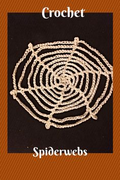 Shamelessly pinning my own blog post. :) Free pattern for crochet spiderwebs!