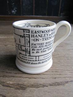 Emma Bridgewater FACTORY PLAN 0.5 pint mug