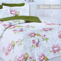Sateen Duvet Cover Set Yesim – Bright, colorful, and refreshing! This cotton Turkish sateen, soft and silky to hand, is exactly what you need to brighten up transform your bedroom… Duvet Sets, Duvet Cover Sets, Home Textile, Bed Sheets, Comforters, Pillow Cases, Modern Design, Textiles, Blanket