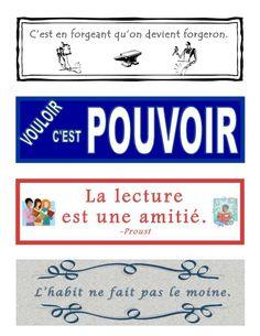 Signets gratuits pour la classe de français