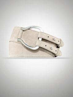 Suede Stirrup Pull-Back Belt - Belts