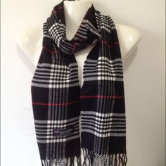 100% cashmere scarf plaid 100% Cashmere Scarf from Scotland.  Warm, Soft and very comfortable.  Wait till you feel this in person. Dry clean or hand washed in cold water. Please look at picture for color.  . Please allow a few days for shipping ‼️ Price drop for today only‼️ Accessories Scarves & Wraps