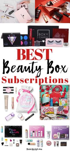 What are the Best Beauty Box Subscriptions for women? My favorite is BOXYCHARM and FabFitFun because of their value and full sized products. This guide compares top beauty boxes for you! Monthly Makeup Subscription Boxes, Makeup Monthly, Subscription Gifts, Monthly Beauty Box, Makeup Box, Beauty Makeup, Top Beauty, Sephora Box, Best Beauty Boxes
