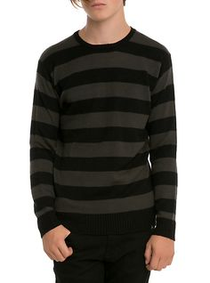 http://www.hottopic.com/hottopic/Gifts/GiftsUnder30/RUDE Tonal Stripe Pullover Sweater-10184332.jsp