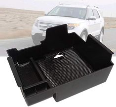 Hoypeyfiy Center Console Organizer for Chevy Silverado GMC Sierra Yukon -GM Vehicles Accessories Replaces 22817343 Center Console Insert Tray Armrest Box Glove Box Organizer Dividers 2015-2018