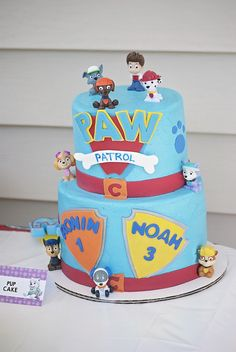 Kim H's Birthday / Paw Patrol - Photo Gallery at Catch My Party Little Boy Cakes, Cakes For Boys, 1st Birthday Party Themes, Boy Birthday, Birthday Ideas, Paw Patrol Party, Paw Patrol Birthday, Gorgeous Cakes, Amazing Cakes