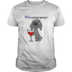 Funny Cool Weimaraner Drinking Wine Tshirt