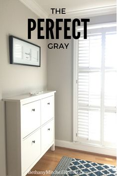 The Perfect Gray — Bethany Mitchell Homes Warm Gray Paint, Grey Paint Colors, Wall Colors, Gray Color, Anew Gray Sherwin Williams, Grey Colour Scheme Bedroom, Gray Bedroom, Grey Interior Paint, Interior Design