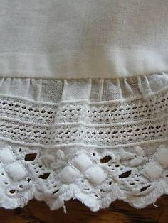 Antique Baby Christening Gown ~ Beautiful pintucks and Lace ~ Some Damage