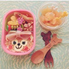 Cute bento lunch @chisha__ Cute Bento, Measuring Spoons, Cakes And More, Candies, Chocolates, Good Food, Lunch, Chocolate, Eat Lunch