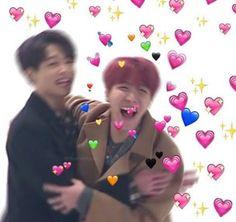 Hoseok and jungkook heart BTS Meme Jungkook Meme, Bts Bangtan Boy, Bts Jin, Bts Meme Faces, Funny Faces, Meme Pictures, Reaction Pictures, Meme Pics, Profile Pictures
