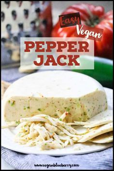 Vegan Pepper Jack Cheese Vegan Peper Jack Cheese that is better than the real thing! Vegan Cheese Recipes, Vegan Sauces, Vegan Foods, Vegan Dishes, Dairy Free Recipes, Raw Food Recipes, Veggie Recipes, Vegetarian Recipes, Cooking Recipes