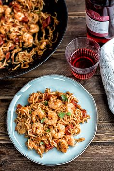 Five minute Chilli prawn noodles