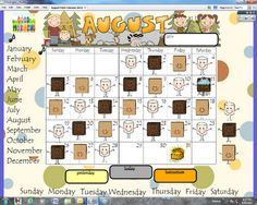 use your Promethean Board for daily calendar time