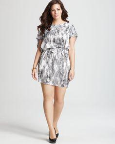 T Bags - Marbled Dress  #plus #size #fashion #dress #print