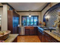 Los Feliz kitchen. Don't like anything but the blue tile.