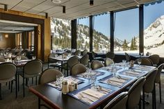 By Everett Potter It's not an exaggeration to say that the Alta Lodge in Utah, which just celebrated its 75th birthday, is unlike any other ski hotel in the world. It resembles a 1940s prep-school dorm with Bauhaus touches—cement-block walls, mid-century industrial Bertoia chairs — but also has floor-to-ceiling windows