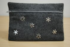 Silver Winter Clutch by GeauxCraft on Etsy, $12.00