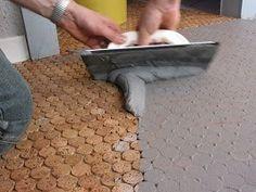 "1"" Cork Mosaic Tile for Floors, Walls, Bathroom, Kitchen! Penny Round Tile!   eBay"