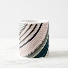 Abstract Green Rings Coffee Mug - pattern sample design template diy cyo customize