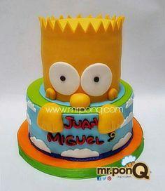 torta bart simpson. cake bart simpson. mrponQ