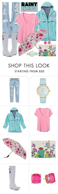 """Splish Splash: Rainy Day Style"" by brendariley-1 ❤ liked on Polyvore featuring Kate Spade, Gap, Kamik and rainyday"