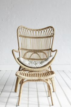 Rattan Slouch Chair Natural