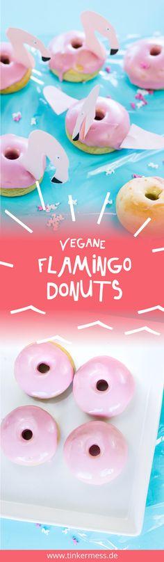 DIY Vegane, schnelle und einfache Flamingo Donuts selber machen