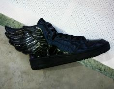 Jeremy Scott x adidas Originals JS Wings - Black Patent Leather    Would be great for warrior dash.