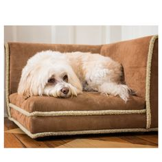 Enchanted Home Pet Corner Nook Dog Bed In Chestnut -