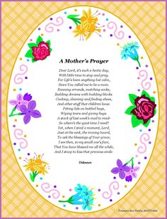 Mother's Day Poems Prayers Have a look at the Immanuel Prayer Wheel - Maranatha Prayer Community today as well as join with many others in praying for our Lord's soon return, and also pray for your desires, and lots of additional things. Click below for more info!