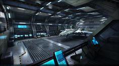 Sci-Fi Hangar by Vattalus.deviantart.com on @DeviantArt